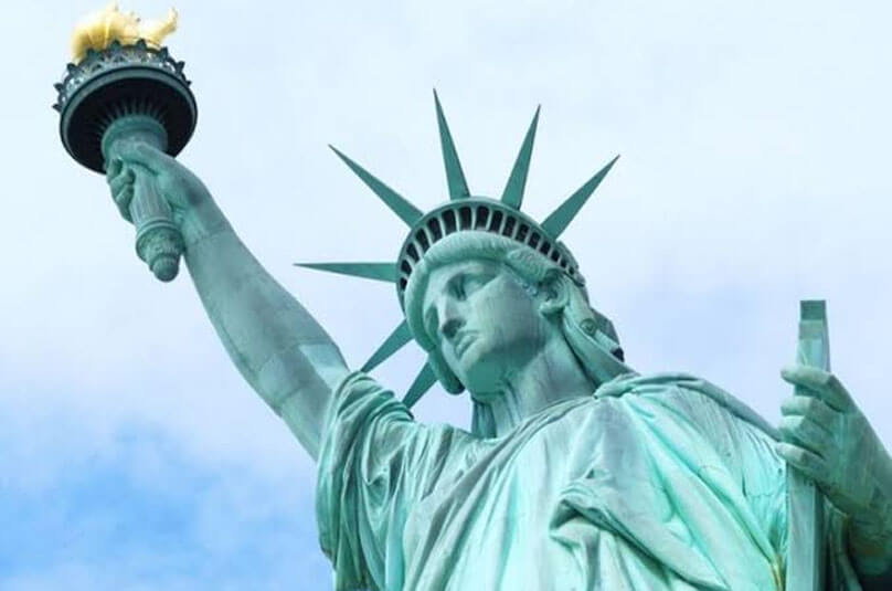 The statue of Liberty in NewYork is a blessing from France